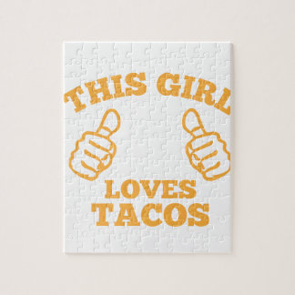 This Girl Loves Tacos Jigsaw Puzzle