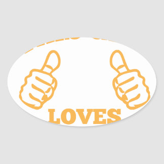 This Girl Loves Tacos Oval Sticker