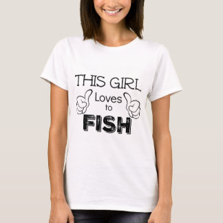 This Girl Loves To Fish Fisherwoman Gift T-Shirt