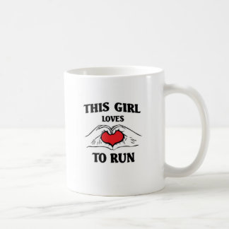 This girl loves to run coffee mug