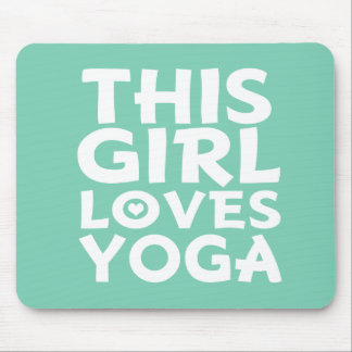 This Girl Loves Yoga - Funny Mouse Pad