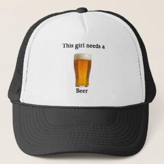 This girl needs a beer trucker hat