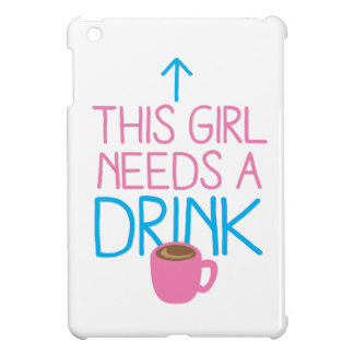 This girl needs a drink with coffee mug iPad mini cases
