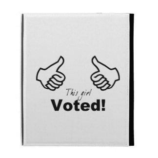 This Girl Voted iPad Folio Cover