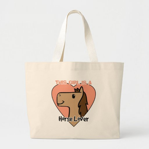 This Girls Is a Horse Lover Large Tote Bag
