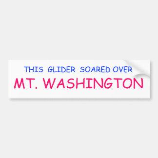 """""""THIS GLIDER SOARED OVER MT. WASHINGTON"""" BUMPER STICKER"""