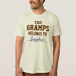 Men's American Apparel Organic T-Shirt with Customizable Grandpa Belongs To... design