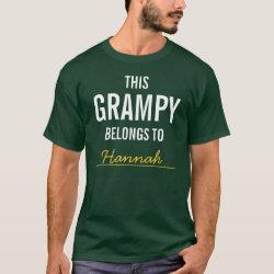 Men's Basic Dark T-Shirt with Customizable Grandpa Belongs To... design