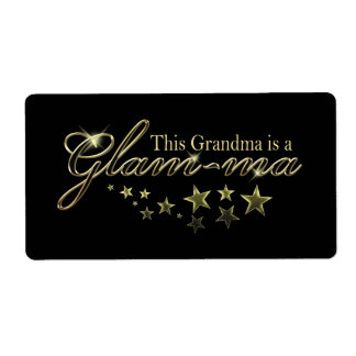 This Grandma is a Glam-ma Custom Shipping Labels