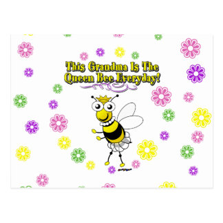 This Grandma Is The Queen Bee Everyday Bee Flowers Postcard