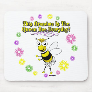 This Grandma Is The Queen Bee Everyday Bee Ring Mouse Pad