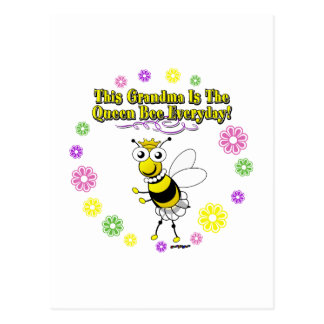 This Grandma Is The Queen Bee Everyday Bee Ring Postcard