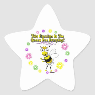 This Grandma Is The Queen Bee Everyday Bee Ring Star Stickers