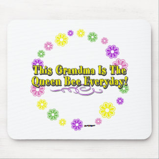 This Grandma Is The Queen Bee Everyday Flower Ring Mouse Pad
