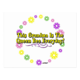 This Grandma Is The Queen Bee Everyday Flower Ring Postcard