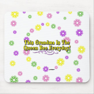This Grandma Is The Queen Bee Everyday Flowers Mouse Pad