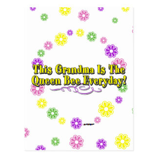 This Grandma Is The Queen Bee Everyday Flowers Postcard