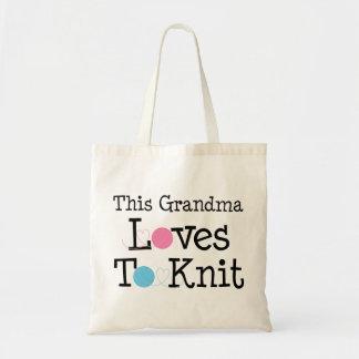 This Grandma Loves To Knit Canvas Bag