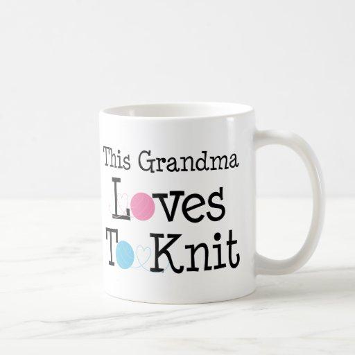 This Grandma Loves To Knit Coffee Mug