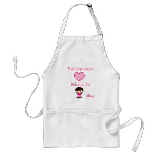 This Grandma's Heart Belongs To Adult Apron