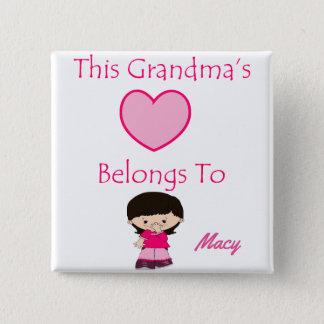 This Grandma's Heart Belongs To Button