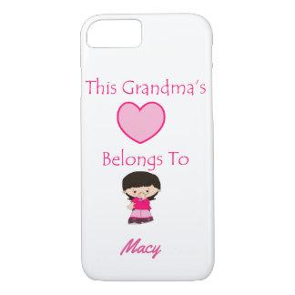 This Grandma's Heart Belongs To iPhone 8/7 Case