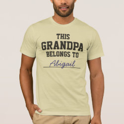 Men's Basic American Apparel T-Shirt with Customizable Grandpa Belongs To... design