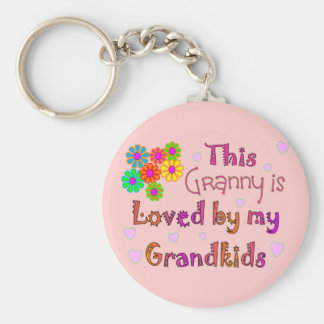 This granny is loved by my Grandkis Keychain