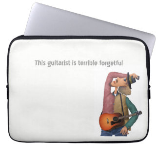 This guitarist is terrible forgetful computer sleeve