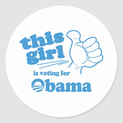 This Guy / Girl is voting for Obama Classic Round Sticker