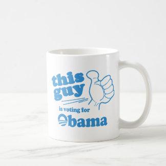 This Guy / Girl is voting for Obama Coffee Mug