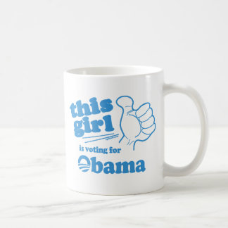 This Guy / Girl is voting for Obama Coffee Mugs