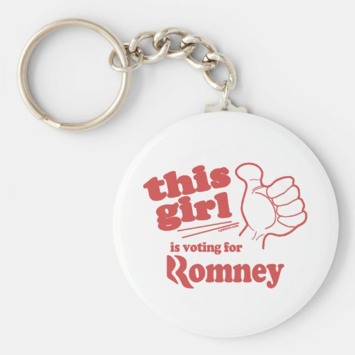 This guy / girl is voting for Romney Key Chains
