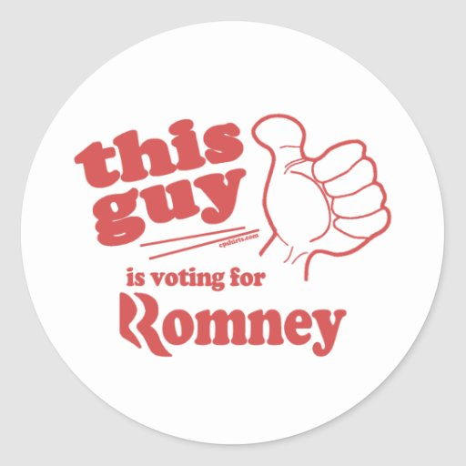 This guy / girl is voting for Romney Classic Round Sticker