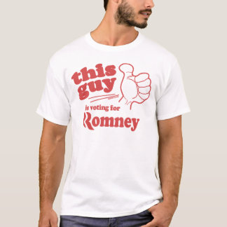 This guy / girl is voting for Romney T-Shirt