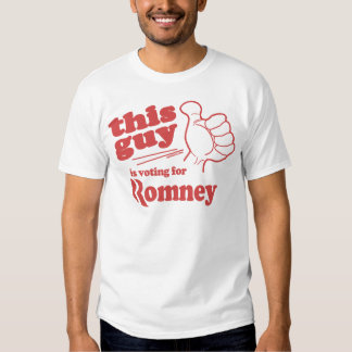 This guy / girl is voting for Romney Tee Shirt