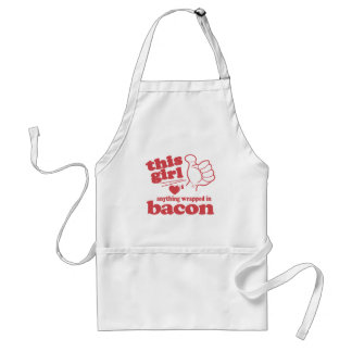 This Guy / Girl Loves Bacon Adult Apron