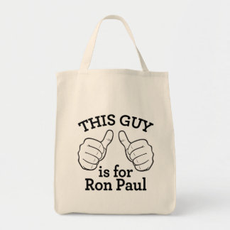 This Guy Is For Ron Paul Grocery Tote Bag