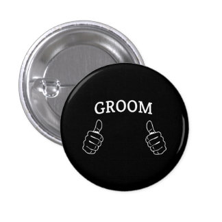 This Guy is the Groom 1 Inch Round Button