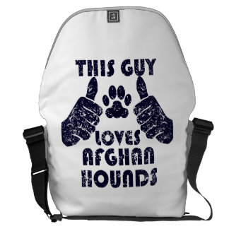This Guy Loves Afghan Hounds Messenger Bags