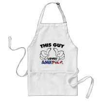 america, this guy, patriot, thumb, usa, slogan, flag, cool, funny, apron, humor, meme, united states, fun, internet memes, offensive, love, Apron with custom graphic design