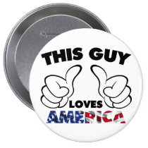 america, usa, flag, this guy, thumb, cool, funny, patriot, united states, humor, fun, offensive, love, buttons, Button with custom graphic design