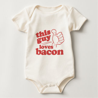 This Guy Loves Bacon Baby Bodysuit