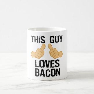 This guy loves bacon coffee mug