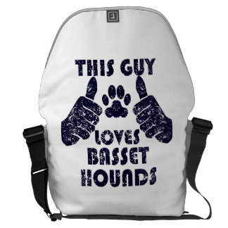 This Guy Loves Basset Hounds Messenger Bags