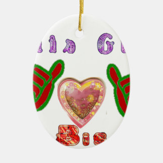 This Guy Loves Bigy.png Ceramic Ornament