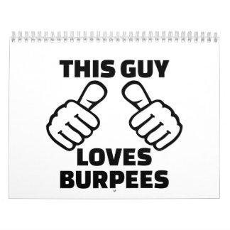 This guy loves burpees calendar