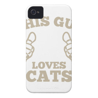 This Guy Loves Cats Case-Mate iPhone 4 Case