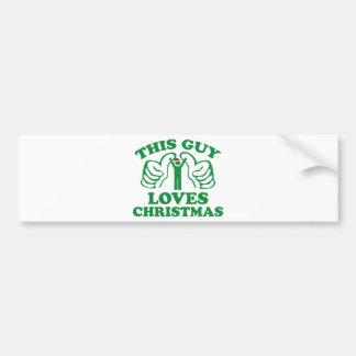 This Guy Loves Christmas Bumper Sticker