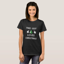 This Guy Loves Christmas Tree T-shirt